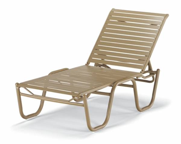 Pool Furniture Supply Chaise Lounge Armless Vinyl Strap