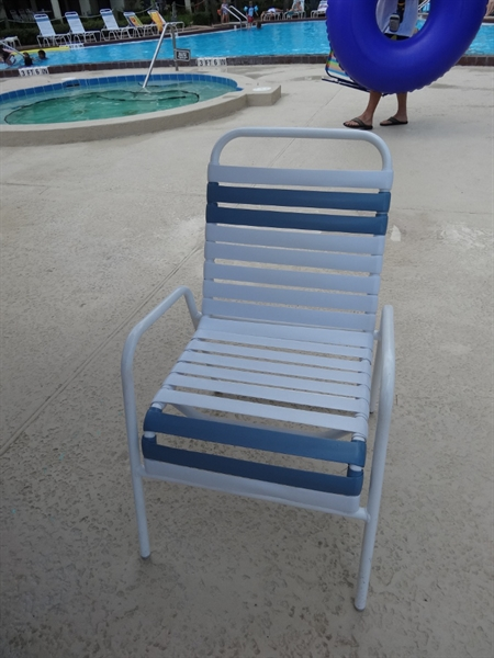 resin chaise lounge chairs leather wingback pool furniture supply. dining chair vinyl straps aluminum frame st. maarten