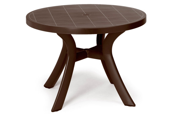 Pool Furniture Supply Dining Table 40 Inch Round Plastic