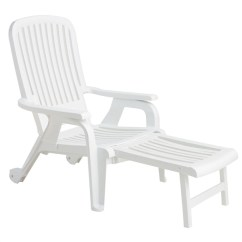 Outdoor Chaise Lounge Chairs With Wheels Tennis Umpire Chair Hire Pool Furniture Supply. Bahia Plastic Resin Deck Chair, Stackable