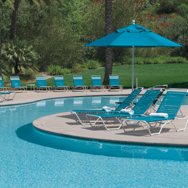 Pool Furniture Supply Tropitone Kahana Strap Chaise