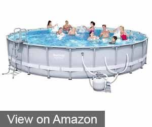 BESTWAY 56393E 24′ X 52″ POWER STEEL FRAME POOL SET