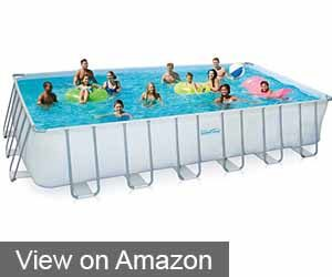 Summer Waves Elite Rectangular Metal Frame Swimming Pool, 12' x 24'