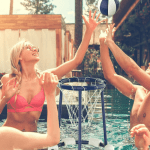 Pool Party With The Best Poolside Basketball Hoop