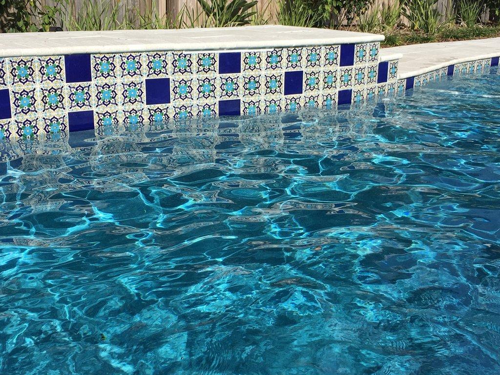 ceramic mexican tile lluvia azul
