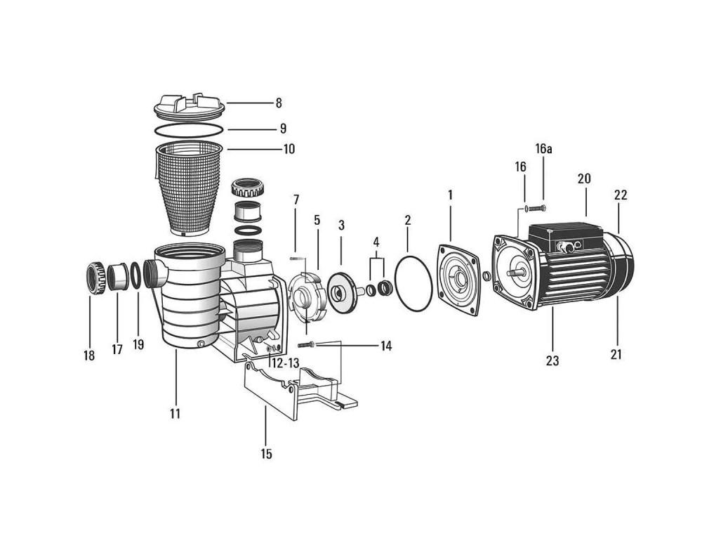 medium resolution of aquaspeed pump 0 75hp motor only three phase