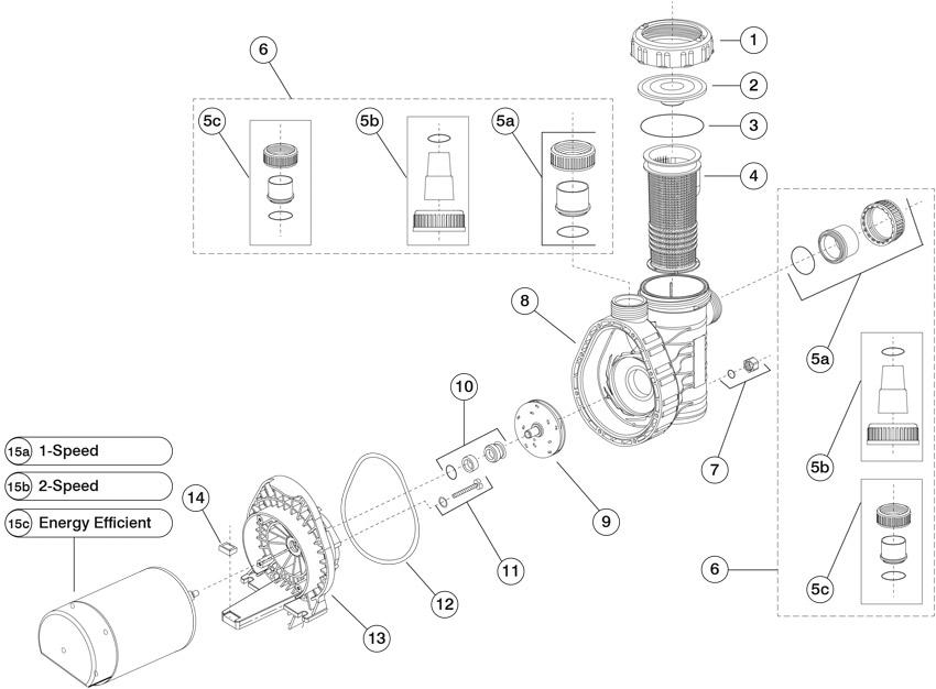 Speck Pumps Model A91 Replacement Pump Parts