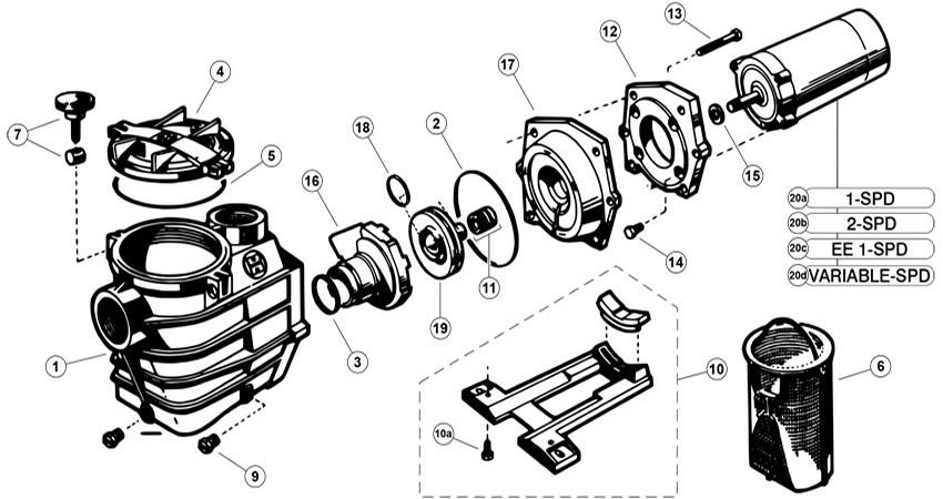 Hayward Super Pump 2 3000 Series (Max) Parts