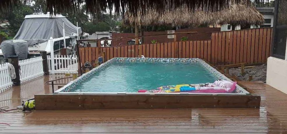 rectangle above ground pools semi inground pools buybest pool supply best deals best prices. Black Bedroom Furniture Sets. Home Design Ideas