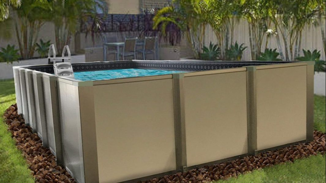 Rectangle Above Ground Pools & Semi Inground Pools | BuyBest ...