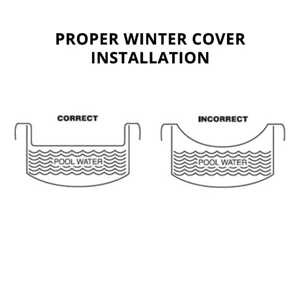 20 x 34 ft Rectangle Supreme Silver Pool Winter Cover