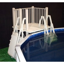 Vinylworks 5 X Ft Resin Deck Kit With Steps And Gate