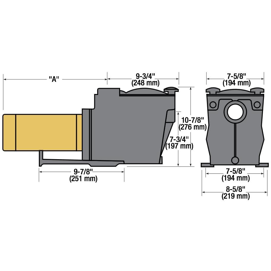 medium resolution of  hayward super pump 1 hp inground