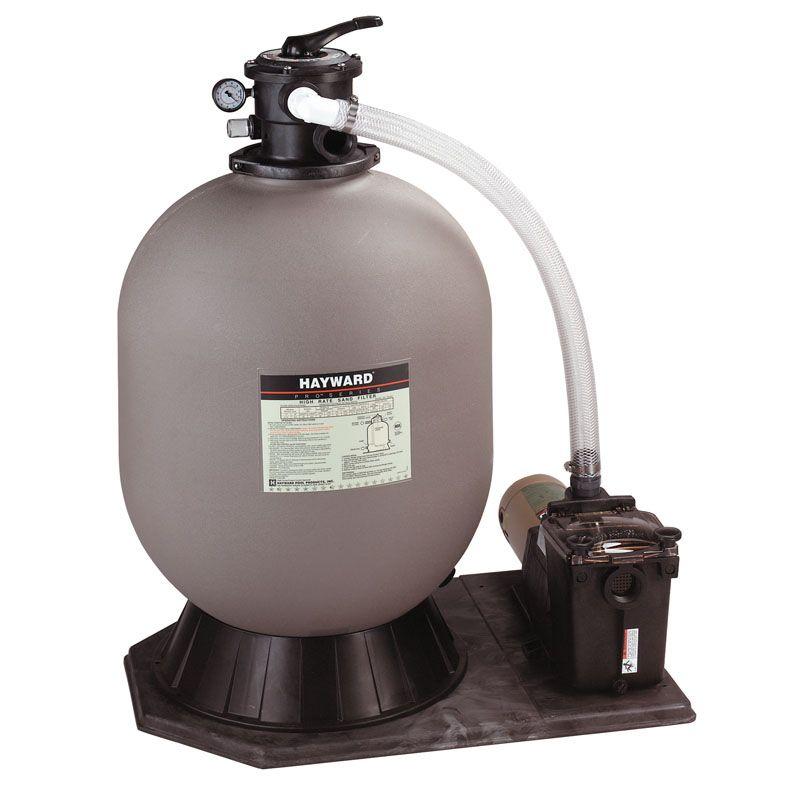 sand filter, 19″ w/1 hp pump. Hayward In Ground Pro Series Sand Filter 24 In Filter With 1 Hp Super Pump Pool Supplies Superstore