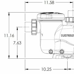 Pool Pump Setup Diagram Hot Tub Heater Wiring Hayward Maxflo Vs Variable Speed Sp2302vsp