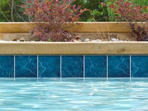 National Pool Tile Blue Seas 6x6 Series Teal Blue SEA TEAL