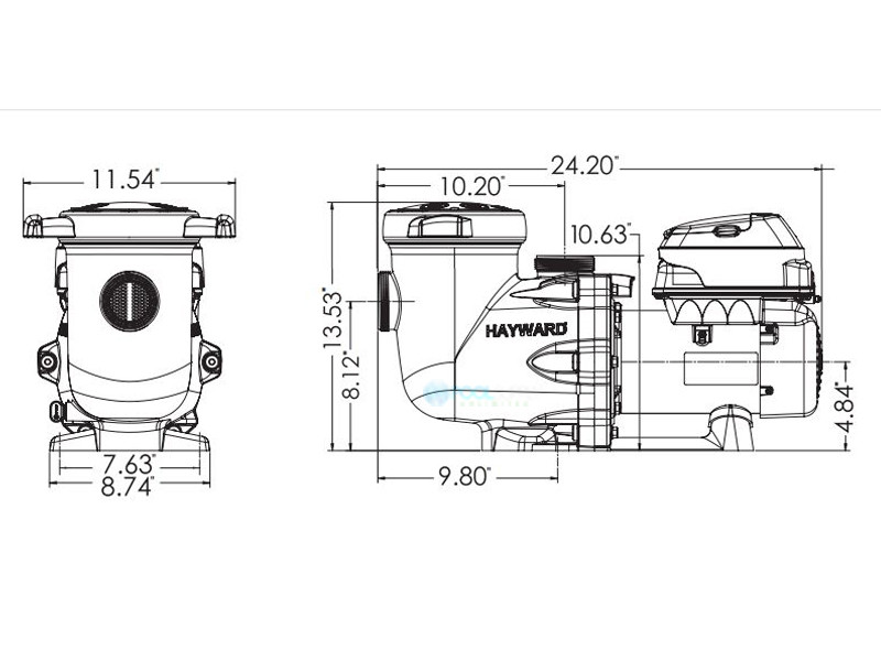 Hayward TriStar VS Variable Speed Pump for Automation