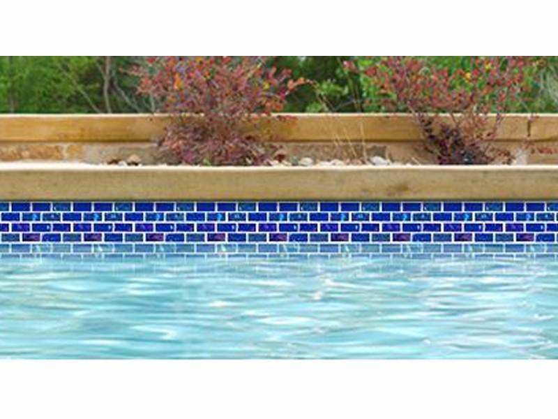 national pool tile equinox 1x2 glass tile dark blue eqx midnight1x2