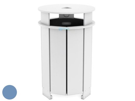 Ledge Lounger Mainstay Collection Outdoor Round Trash Bin