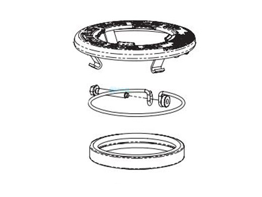 Pentair Intellibrite Face Ring Assembly Stainless Steel