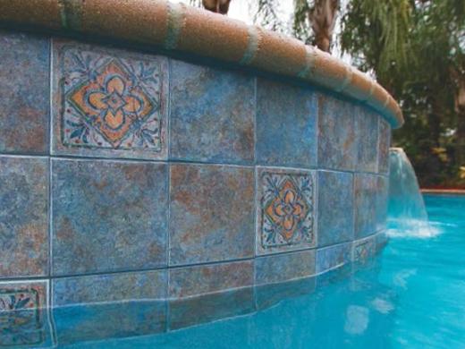 National Pool Tile Raku 6x6 Series Cobalt Blue