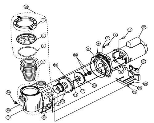 pentair pool pump wiring diagram 2008 ford f350 power mirror whisperflo 1.5hp standard efficiency up-rated 115-230v   wf-26 011773