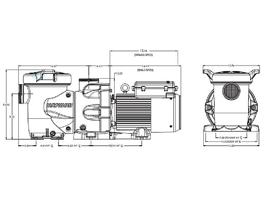 Hayward HCP 3000 2.7HP Variable Speed High Performance