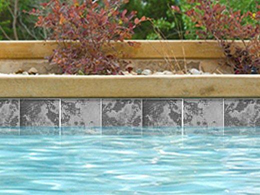 national pool tile magnetite 6x6 series black semi polished mag black