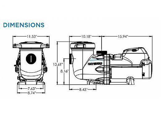 Hayward HCP 2500 EcoStar C Variable Speed Pool Pump 3.0HP