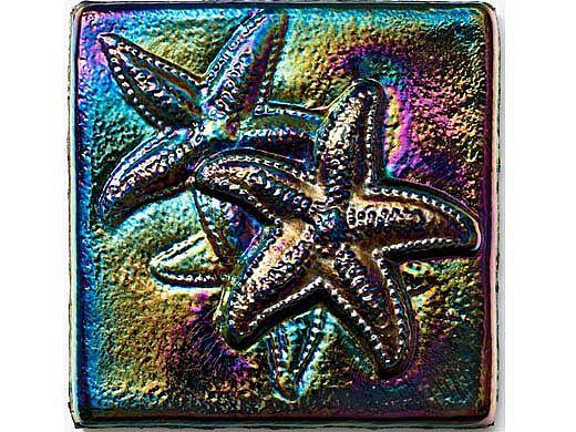 national pool tile deco accent glass tiles 4x4 starfish rainbow ocn rnstarfish