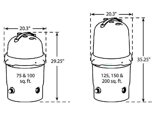 Waterway FC1507 ClearWater II Cartridge Standard Filter