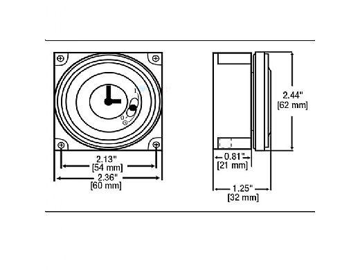Grasslin 110V 24hr 5 Lug Electromechanical Time Clock
