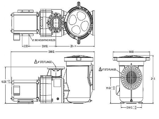 Pentair EQK1000 Series 10HP Nema Premium Efficiency 3