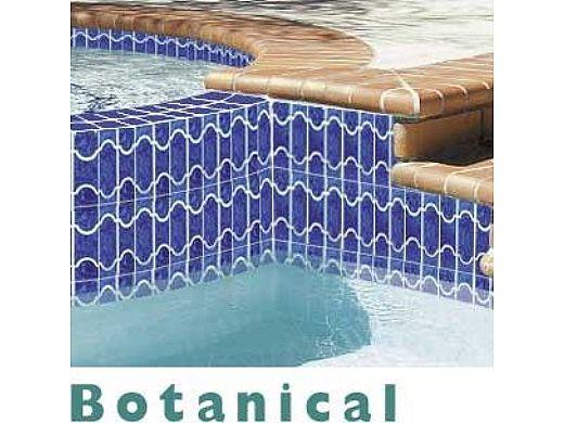 national pool tile botanical series pool tile lake blue bue44
