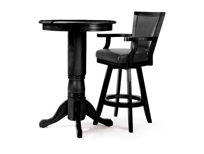 pub style table and chair set aeron office spencer marston basic pooltables com the is a great look for any billiards room comes with one premium