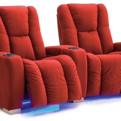 Home Theater Chair Repair Faux Leather Cushions Media Power Seat