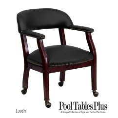Poker Table Chairs With Casters Picture Frame Molding Chair Rail Game In Black