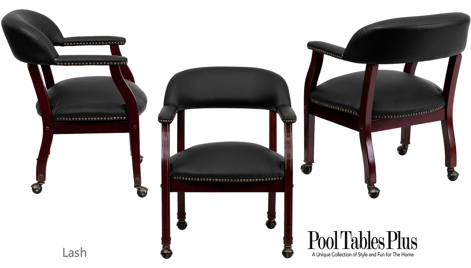 poker chairs with casters iron throne office chair game in black