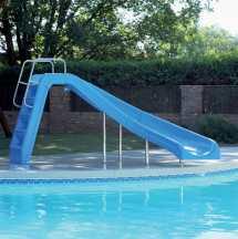 White Water Swimming Pool Slide