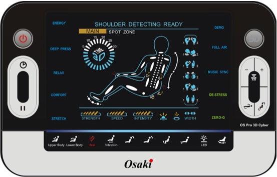 osaki os 3d pro cyber massage chair captains gym equipment pool warehouse 9 different pre set programs there are to select from it ranges labeled energy deep press relax comfort