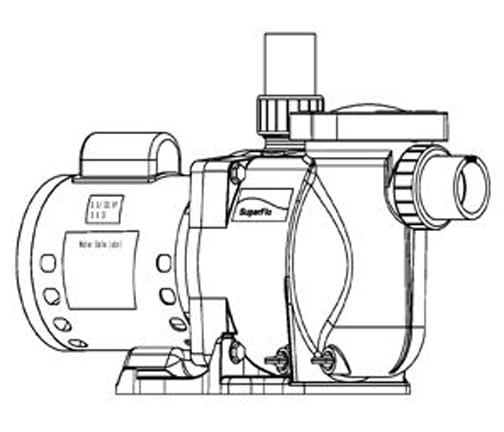 Pentair SuperFlo 1.5 HP Standard Efficiency Pool Pump