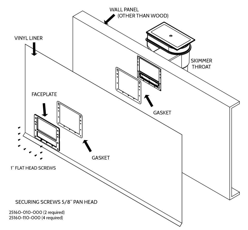 hight resolution of inground pool kit installation manual skimmer