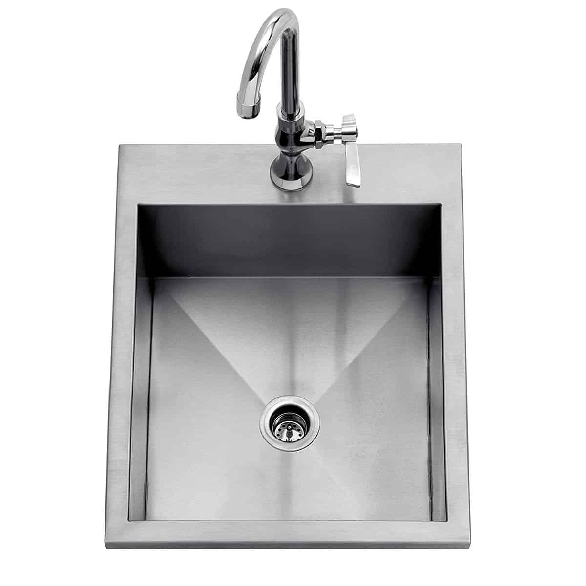 delta heat 15 x 15 drop in outdoor sink