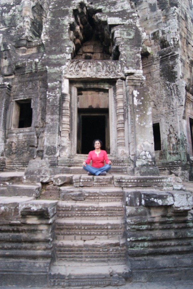 Meditating at Bayon