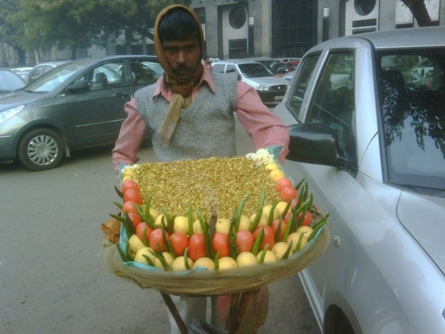 Sprouted Mung Chaat vendor