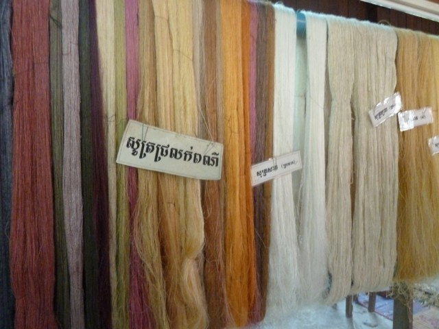 Silk yarn in a range of natural colors