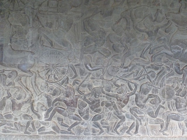 Bas reliefs on the walls - detail