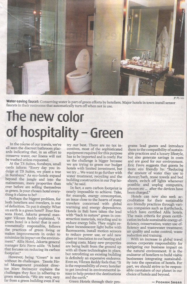 The New Color of Hospitality - Green