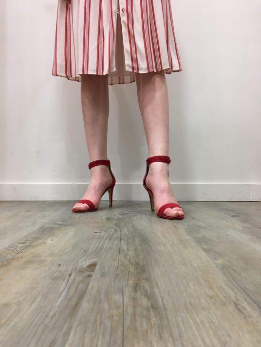 Sandales à talons rouges NAF NAF