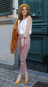 shop my style pantalon à carreaux géométriques